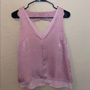 Miami pink silky tank top